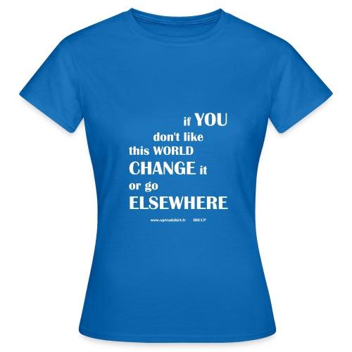 Change world - Texte blanc - T-shirt Femme