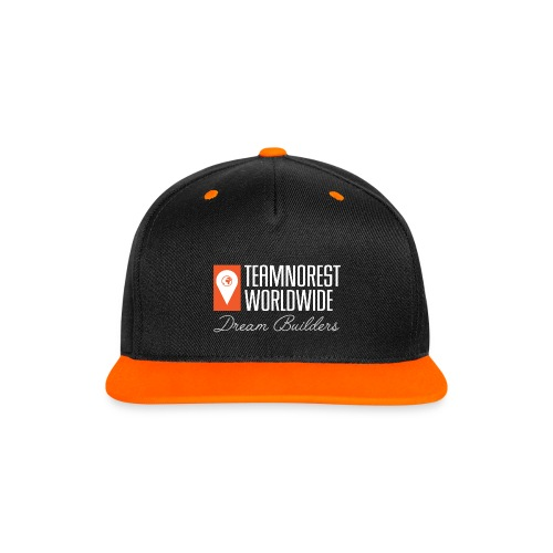 TNR Orange/Black Contrast Snapback Cap - Contrast Snapback Cap