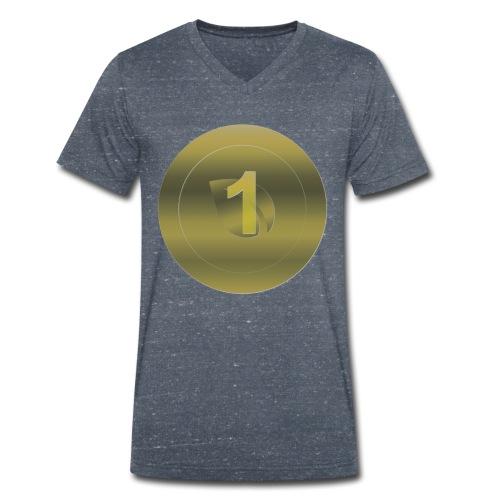 1 Peercoin - Männer Bio-T-Shirt mit V-Ausschnitt von Stanley & Stella