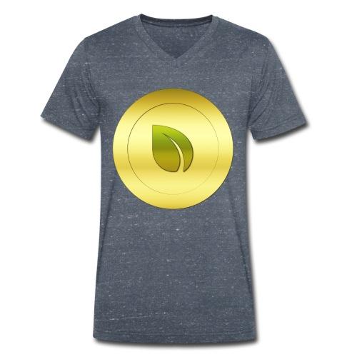 Peercoin - Männer Bio-T-Shirt mit V-Ausschnitt von Stanley & Stella
