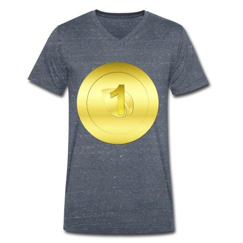 1 Gold Peercoin - Männer Bio-T-Shirt mit V-Ausschnitt von Stanley & Stella