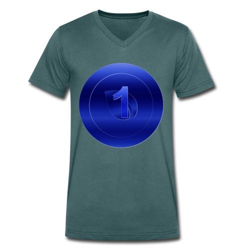 1 Blue Peercoin - Männer Bio-T-Shirt mit V-Ausschnitt von Stanley & Stella