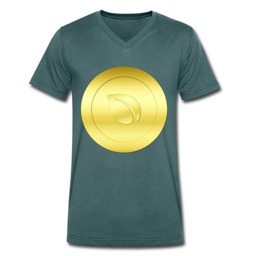 Gold Peercoin - Männer Bio-T-Shirt mit V-Ausschnitt von Stanley & Stella
