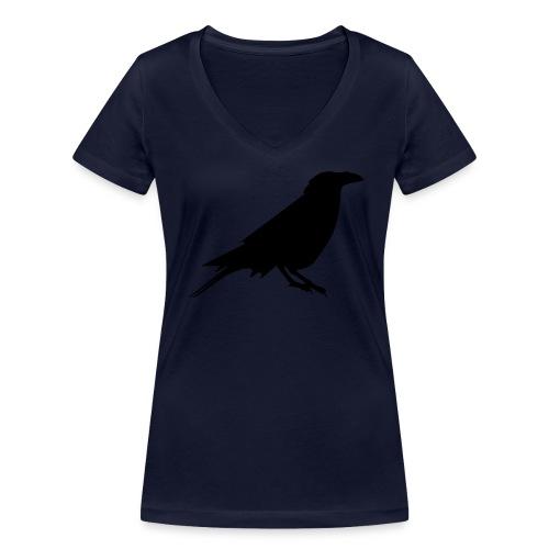 Rabenshirt V-Ausschnitt navy - Frauen Bio-T-Shirt mit V-Ausschnitt von Stanley & Stella
