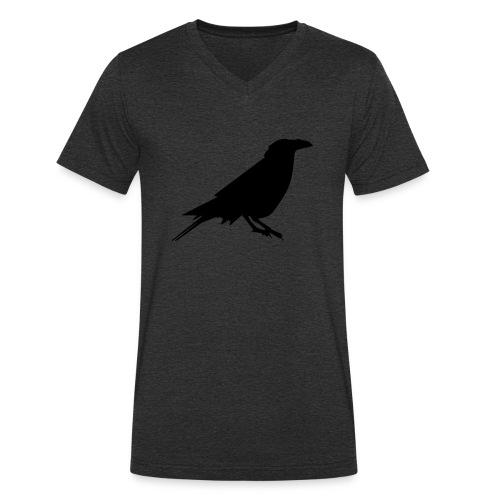 Rabenshirt anthrazit - Männer Bio-T-Shirt mit V-Ausschnitt von Stanley & Stella