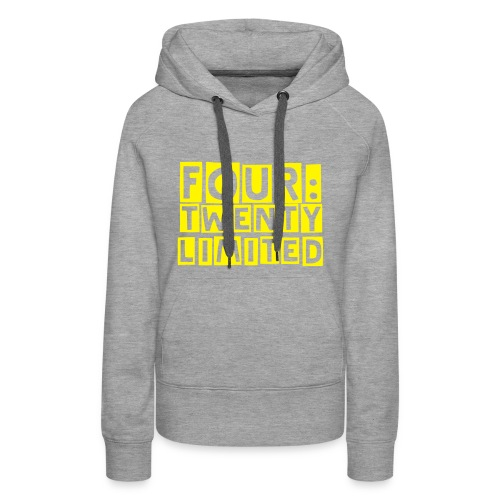 four:twenty limited Girlie, White/Yellow - Women's Premium Hoodie