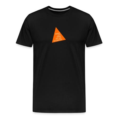 Kankje vær sorry - Premium T-skjorte for menn