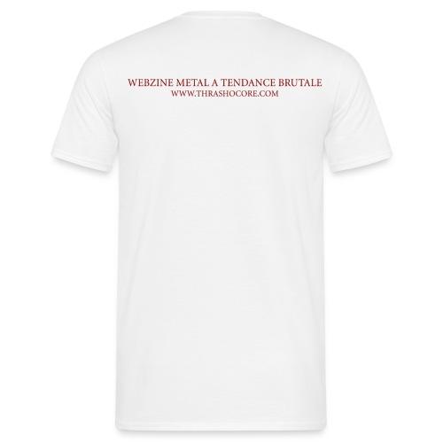 T-shirt Thrashocore blanc et slogan - Chris Moyen - T-shirt Homme