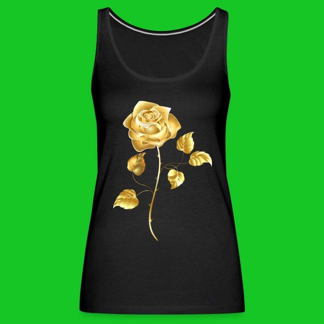 Gouden roos dames tank top