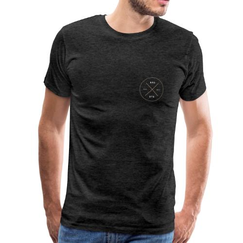 BRDSTN Basic 02 Small Coal Premium - Männer Premium T-Shirt