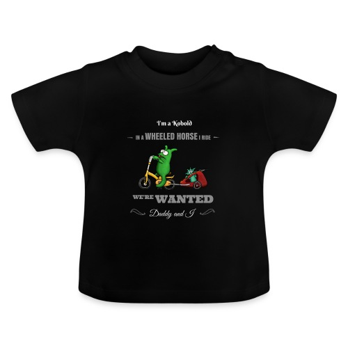 Kobold Wanted Rider Baby T-Shirt black - Baby T-Shirt