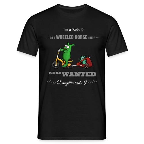 Kobold Wanted Rider Men T-Shirt black - Men's T-Shirt