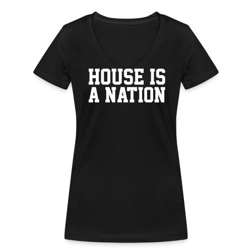 ILHM // HOUSE IS A NATION // WOMAN - Frauen Bio-T-Shirt mit V-Ausschnitt von Stanley & Stella