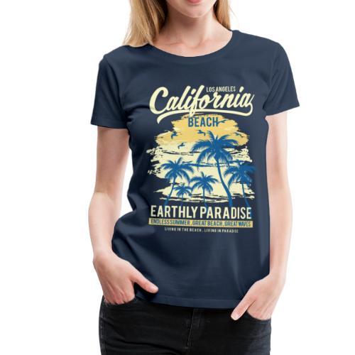 Ladies Surf Style T-shirt - California - Women's Premium T-Shirt