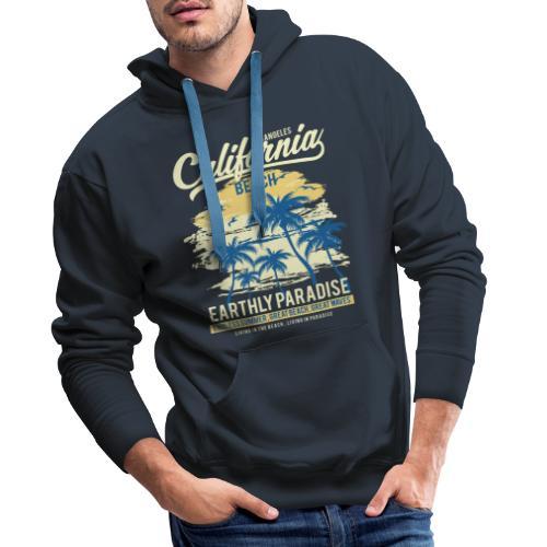 Mens Surf Style Hoodie - California - Men's Premium Hoodie