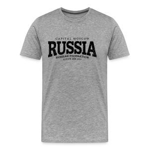 Russia (black oldstyle) - Männer Premium T-Shirt