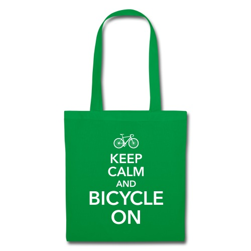 keep calm and bicycle on Fahrrad Drahtesel Sattel - Stoffbeutel