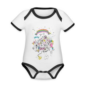 Bio-Babystrampler - Baby Bio-Kurzarm-Kontrastbody