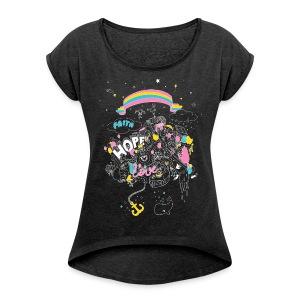 Frauen Shirt - Frauen T-Shirt mit gerollten Ärmeln
