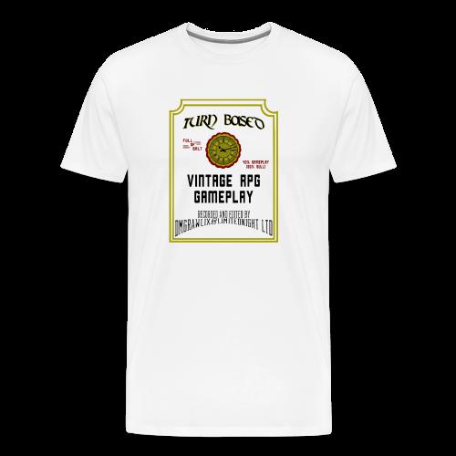 TurnBased Tee - White - Men's Premium T-Shirt