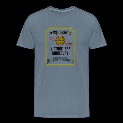 TurnBased Tee - Steel Blue - Men's Premium T-Shirt