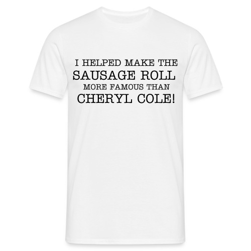 I helped white - Men's T-Shirt