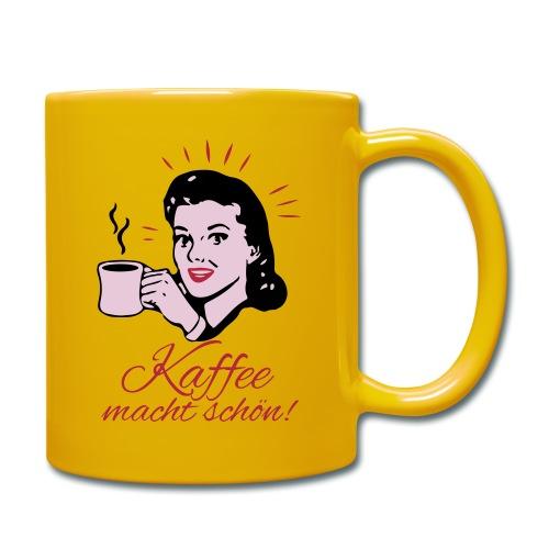Kaffee macht schön! - Tasse einfarbig