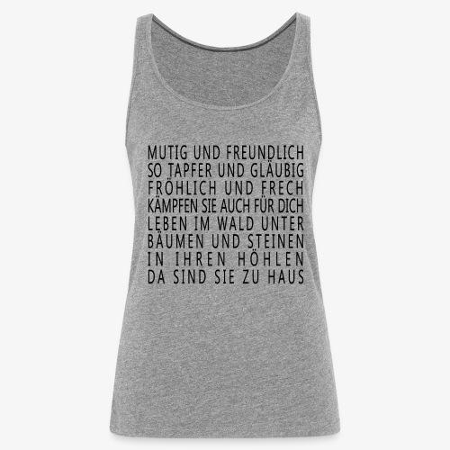 Mutig und Freundlich - Frauen Premium Tank Top