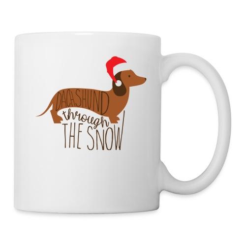 Dackel im Schnee - Tasse