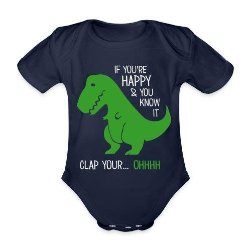 T-Rex - Baby Bio-Kurzarm-Body