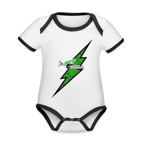 6Bulle Power Baby - Body Bébé bio contrasté manches courtes