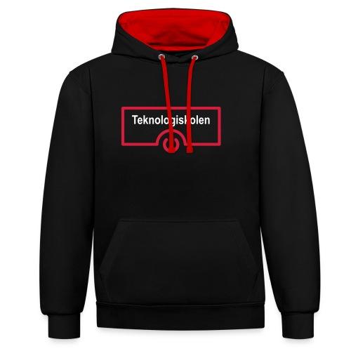 Unisex hoodie - Kontrast-hættetrøje