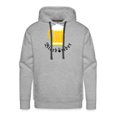 Heather grey Glas Bier / beerglass (3c) Hoodies & Sweatshirts