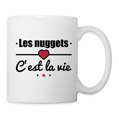 Tasse nuggets, nuggets c'est la vie - Mug blanc