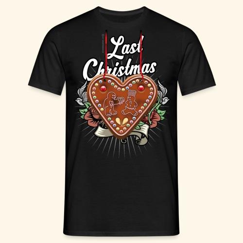 Lebkuchenherz Last Christmas - Männer T-Shirt