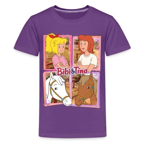 Bibi und Tina mit Amadeus und Sabrina - Teenager Premium T-Shirt