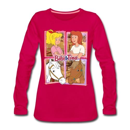 Bibi und Tina mit Amadeus und Sabrina - Frauen Premium Langarmshirt
