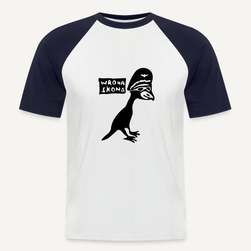 Wrona skona - Koszulka bejsbolowa męska