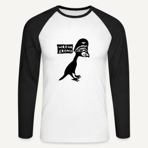 Wrona skona - Koszulka męska bejsbolowa z długim rękawem
