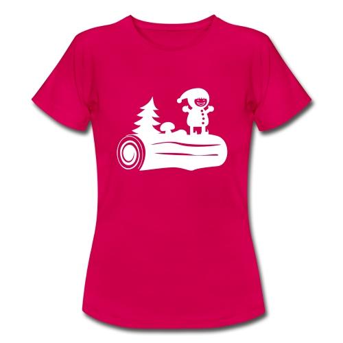 bûche de Noël  - T-shirt Femme