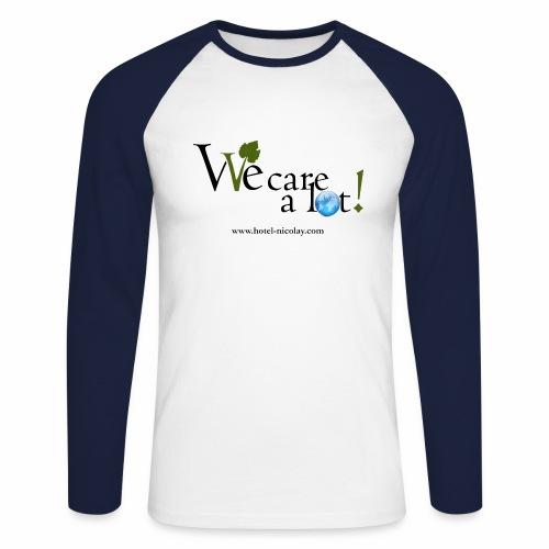 We care a lot! Baseballshirt - Männer Baseballshirt langarm