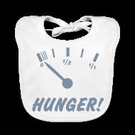 Baby Lätzchen ~ Baby Bio-Lätzchen ~ Hunger (silber) - Baby Bio-Lätzchen