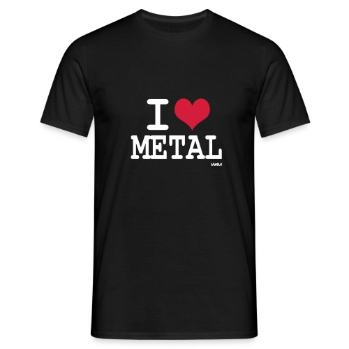 i love metal shirt (M) - Men's T-Shirt
