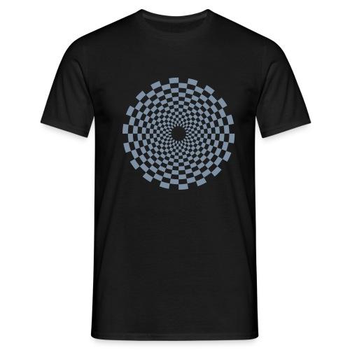 Psychedelic Circle (matte silver) - Männer Basis T-Shirt - Männer T-Shirt