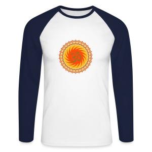 OM Lotus (yellow/neon-orange/gold) - langärmeliges Baseballshirt - Männer Baseballshirt langarm