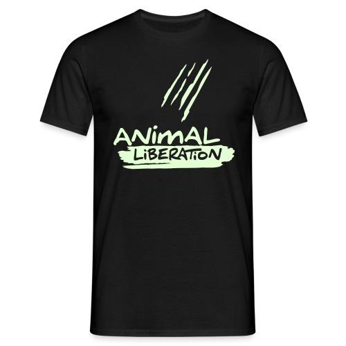 Mens Basic-Shirt 'Animal Liberation' - GLOW - Männer T-Shirt