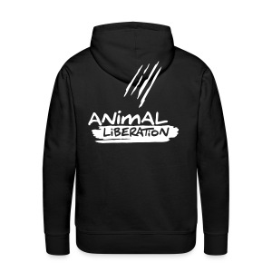 Mens Kapuzi 'Animal Liberation' - Männer Premium Hoodie