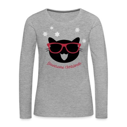 Pawesome Christmas - Frauen Premium Langarmshirt