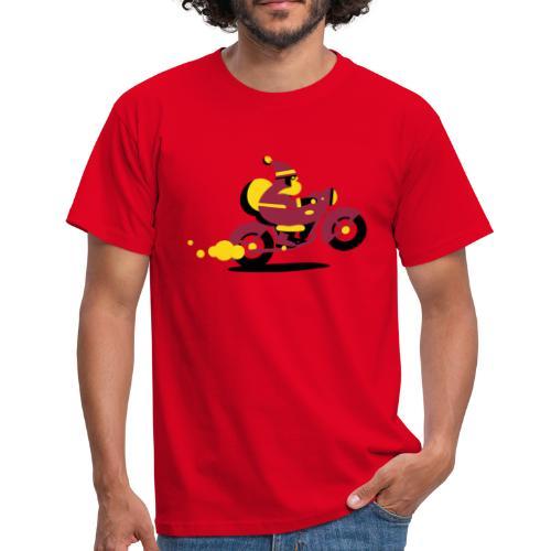 Weihnachtsmann auf Motorrad - Männer T-Shirt