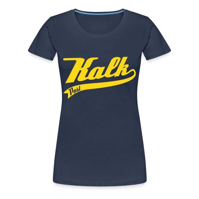 Damen Shirt mit Classic Motiv mit samtigem gelbem Flockdruck